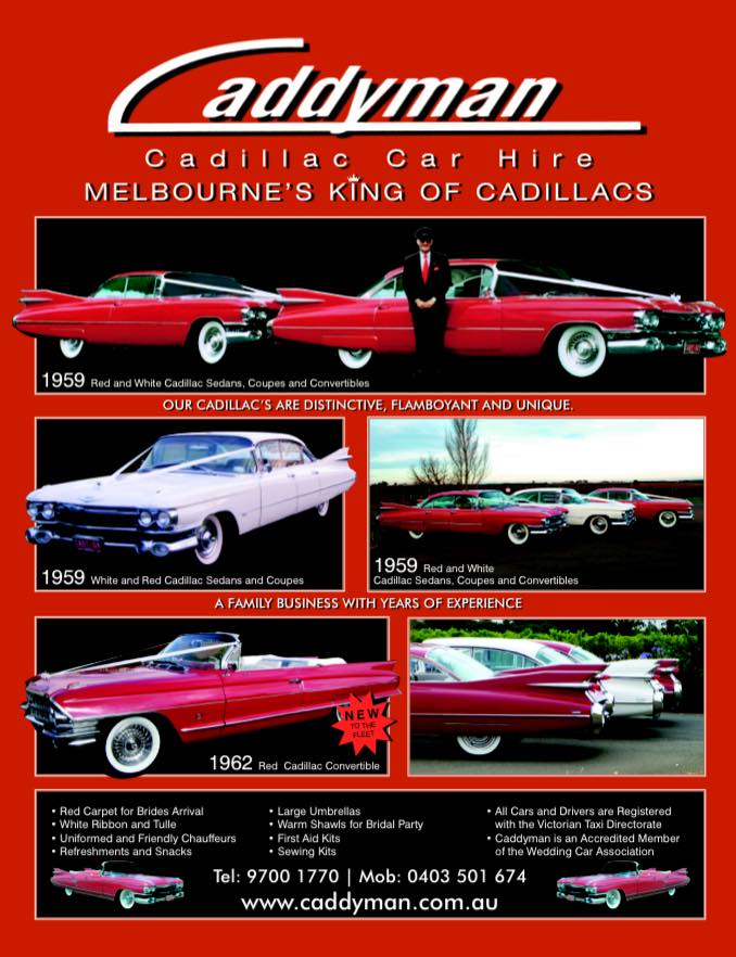 Caddyman Cadillac Car Hire Melbourne
